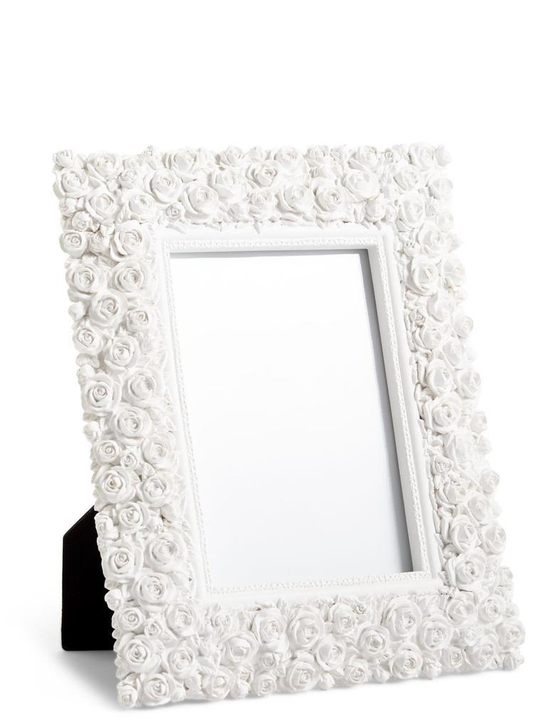 Beyaz Rose Fotoğraf Çerçevesi 12 x 18cm (5 x 7inch)