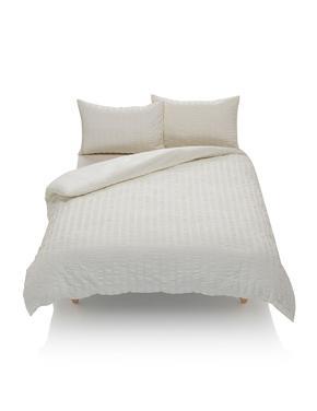 Çizgili Gofre Kumaş Yatak Takımı