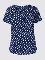 Mavi Desenli Bluz