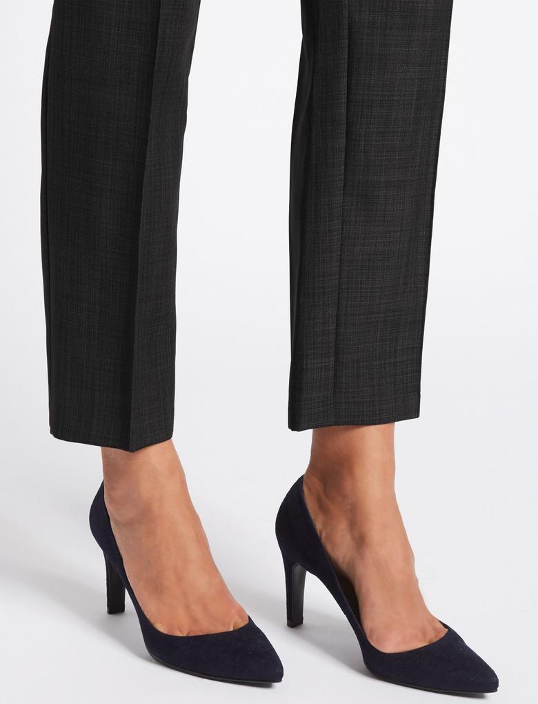 Gri Straight Leg Pantolon