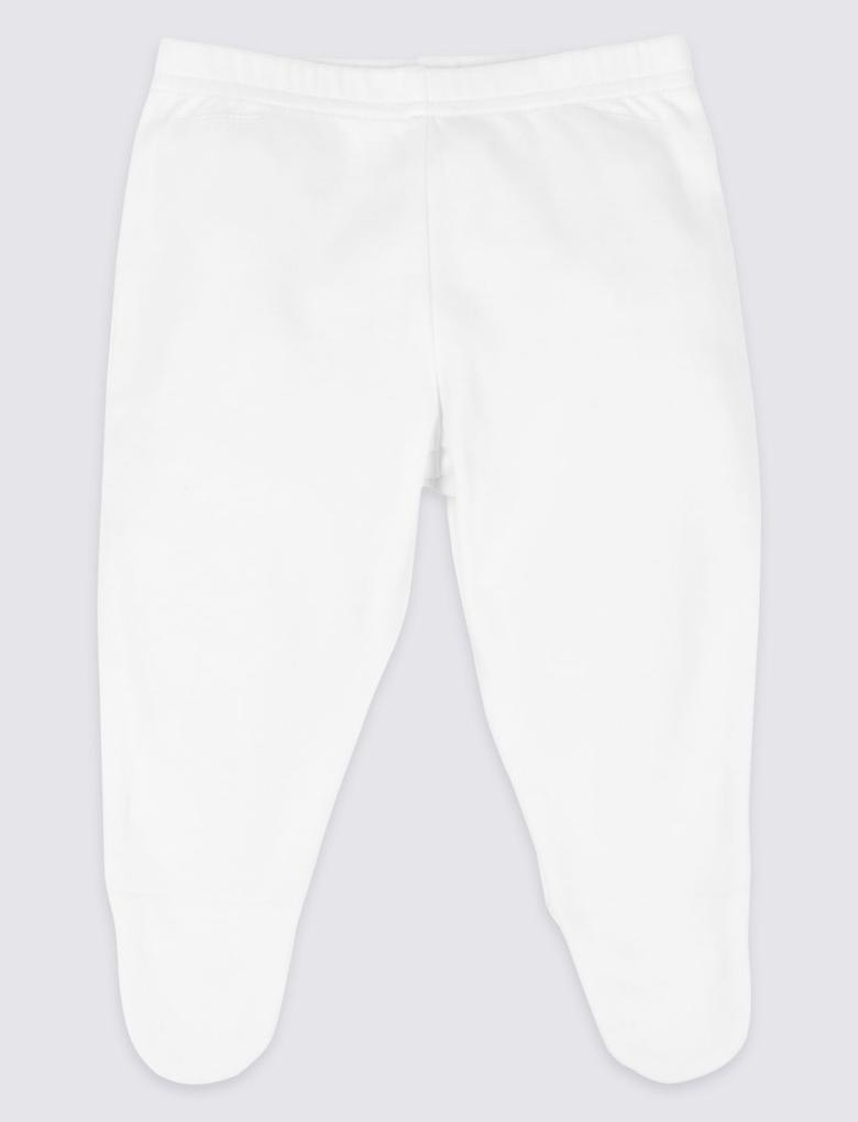 Beyaz 8 Parça Unisex Saf Pamuklu Kıyafet Takımı