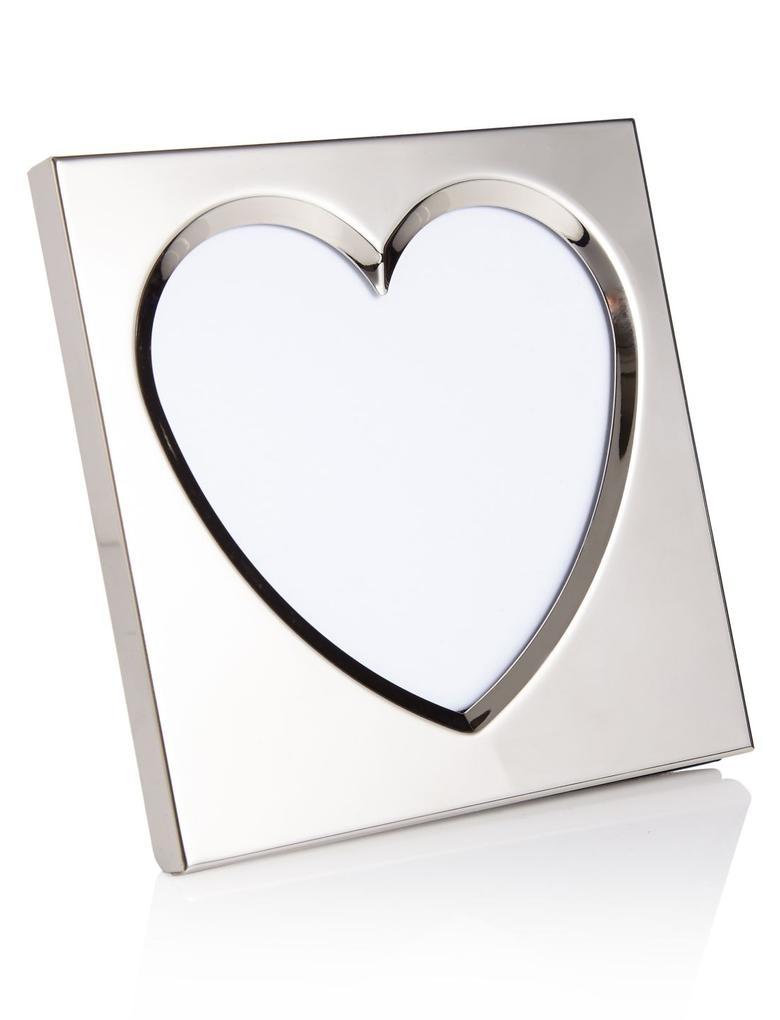 Metalik Kalp Motifli Fotoğraf Çerçevesi 10 x 10cm (4 x 4inch)