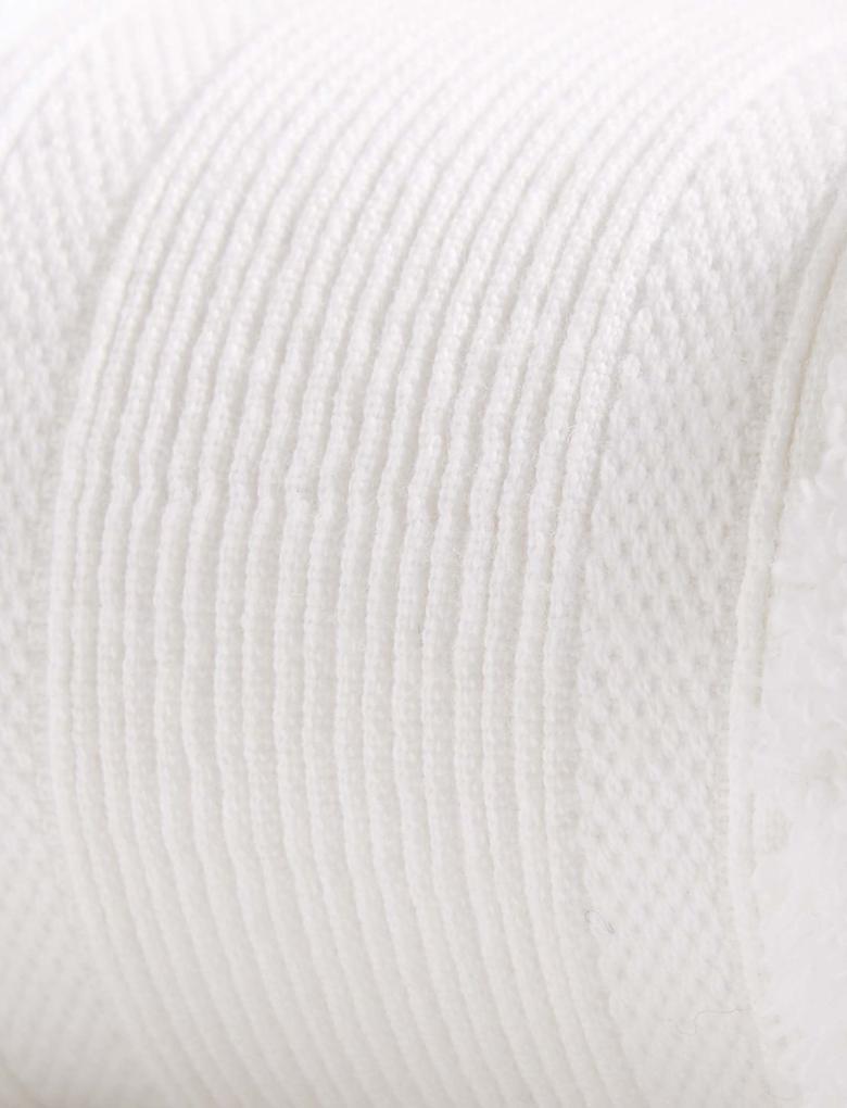 Ev Beyaz Yumuşak Dokulu Saf Pamuklu Havlu