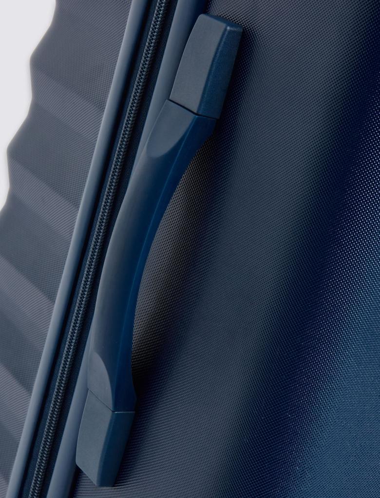 4 Tekerlekli Orta Boy Sert Yüzeyli Valiz (Güvenlik Fermuarı ile)