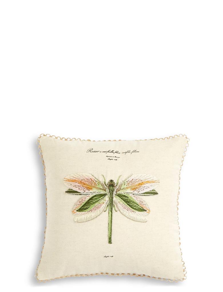 Yeşil İşlemeli Yastık