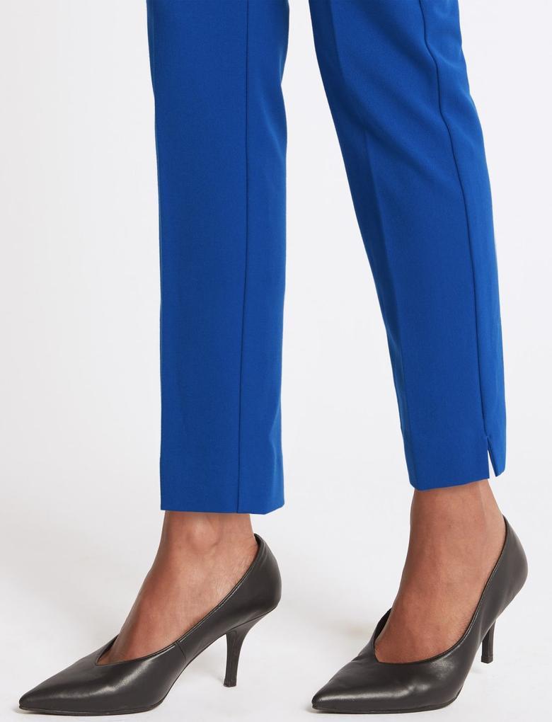 Lacivert Slim Leg Pantolon