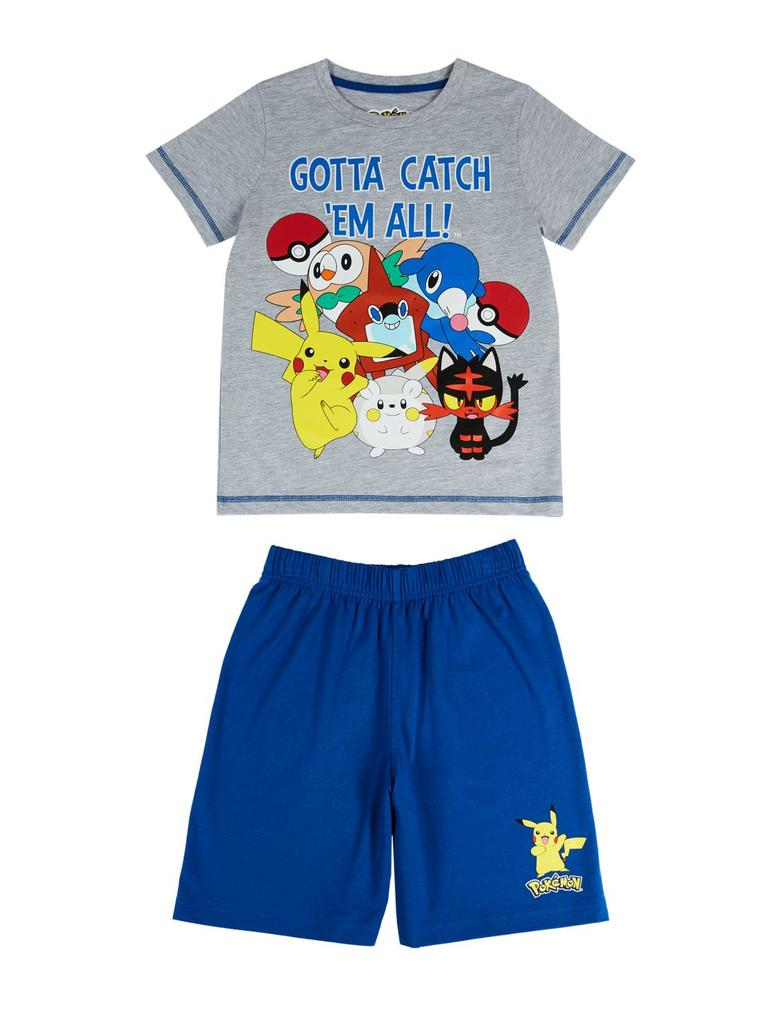 Pokemon™ Desenli Pijama Takımı (5 - 14 Yaş)