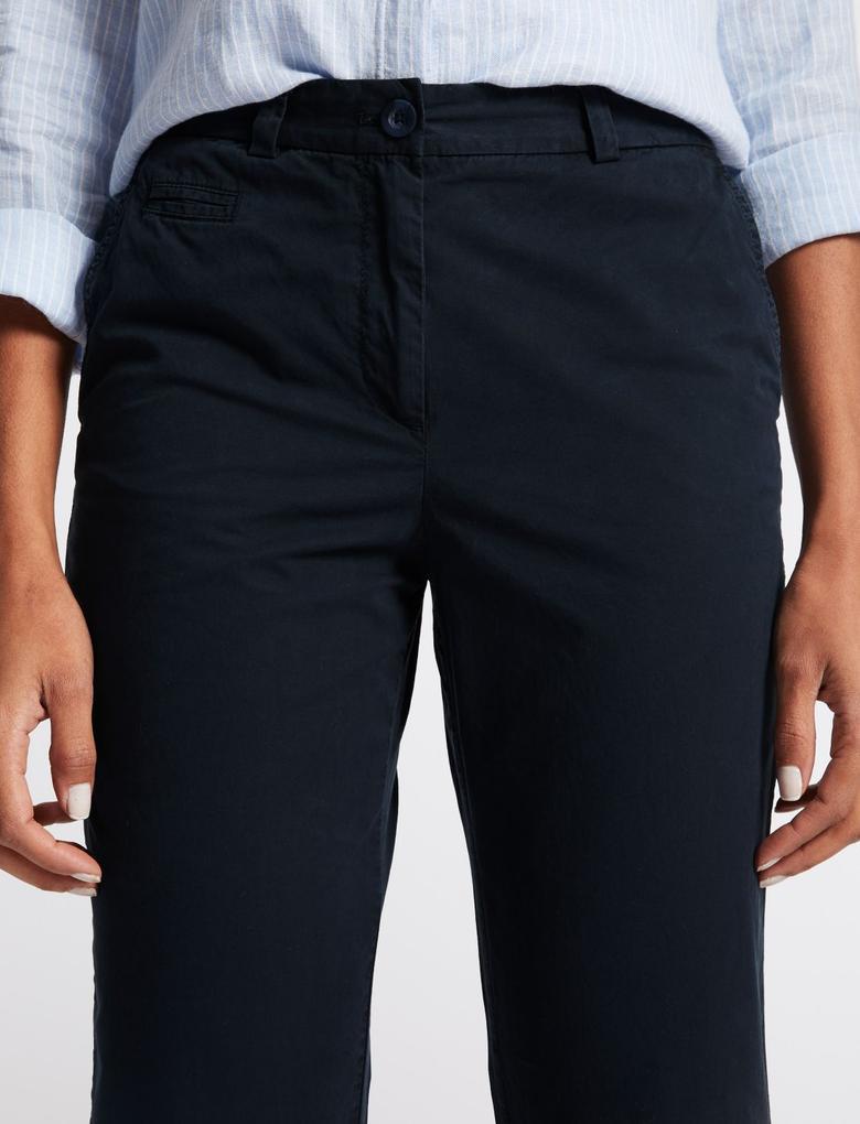 Saf Pamuklu Chino Pantolon