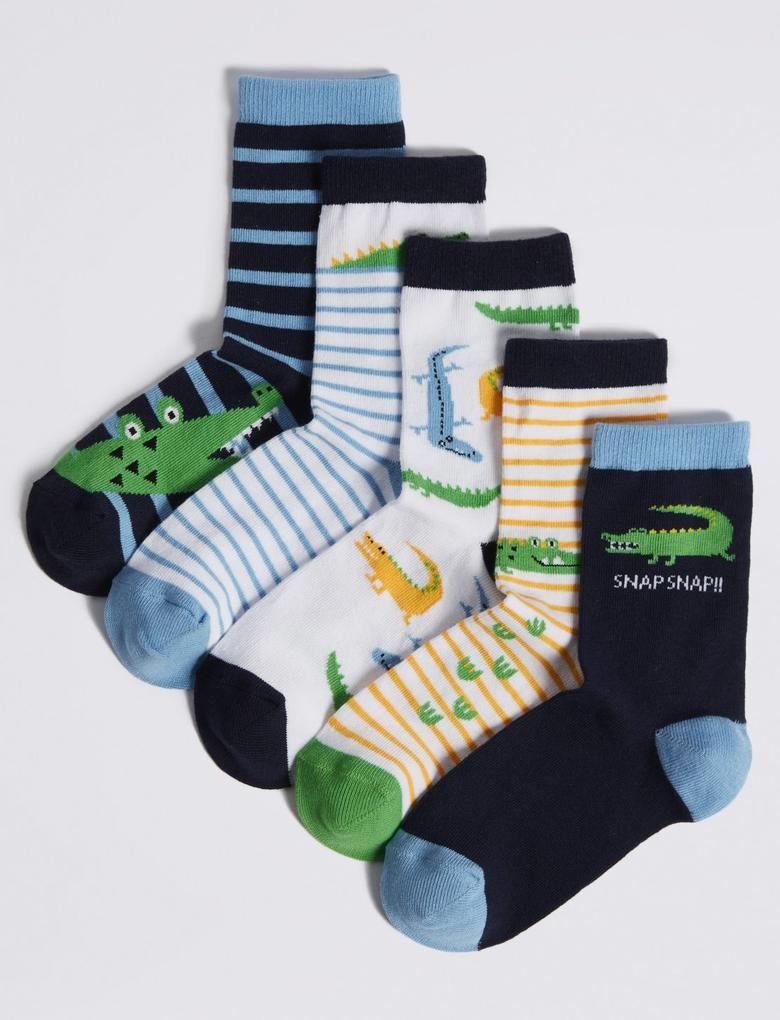 5 Çift Pamuklu Çorap