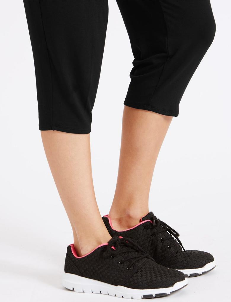 Kadın Siyah Kısa Yoga Taytı