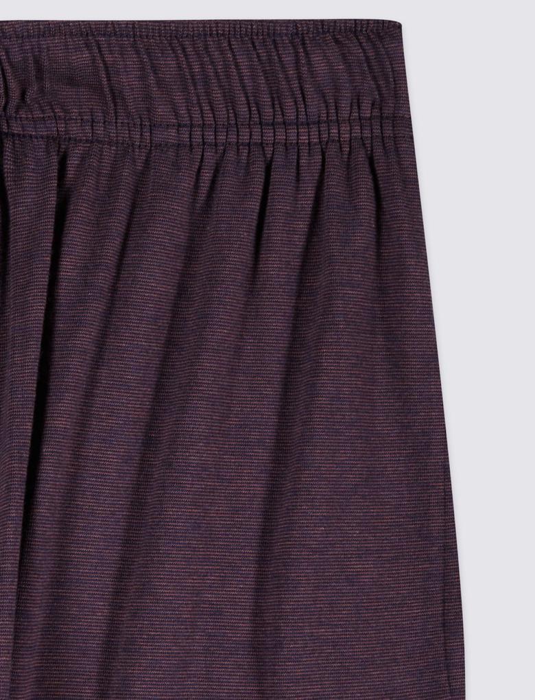 Supima® Pamuklu Modal Karışımlı Çizgili Pijama Altı