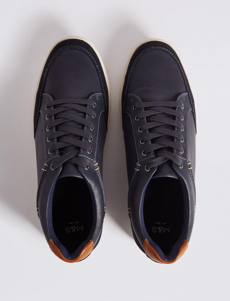 Bağcıklı Deri Spor Ayakkabı