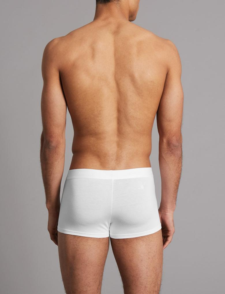 Beyaz 2'li Modal Karışımlı Hipster Külot Seti