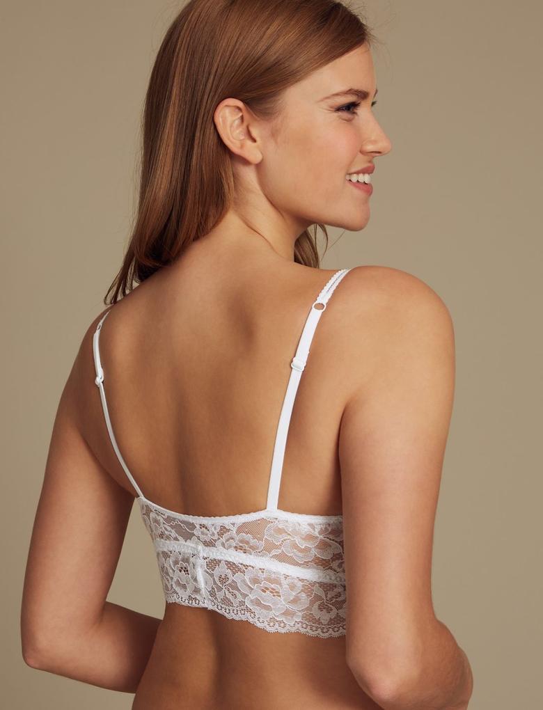 Beyaz Louisa Dantelli Bralet Sütyen