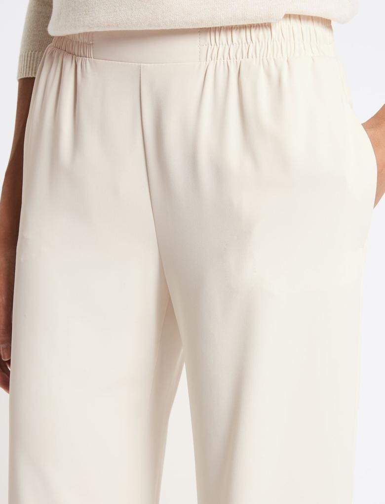Elastik Belli Wide Leg Pantolon