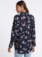 Saf Modal Kumaşlı Çiçek Desenli Uzun Kollu Bluz