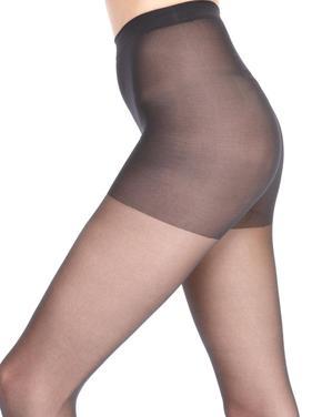 Kadın Siyah 15 Denye Medium Destekli Külotlu Çorap