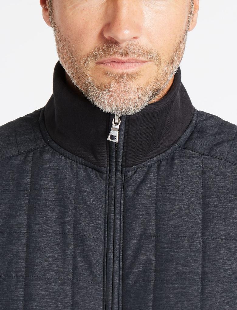 Lacivert Pamuklu Fermuarlı Sweatshirt
