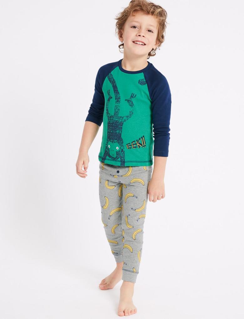 3'lü Alt ve Üst Pijama Takımı (1 - 7 Yaş)
