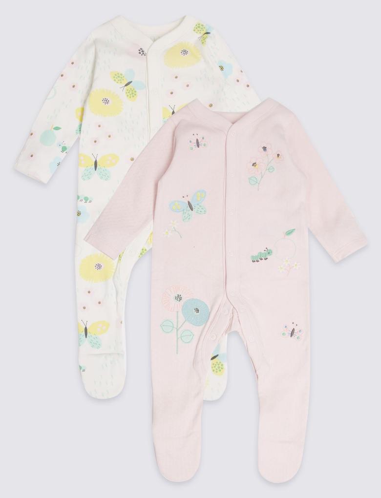 2'li Saf Pamuklu Pijama Tulum