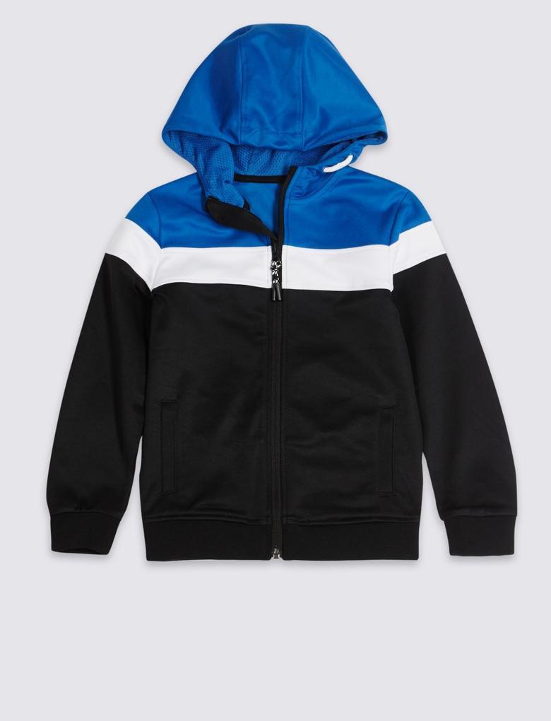 Multi Renk Kapüşonlu Sweatshirt (3 - 16 Yaş)
