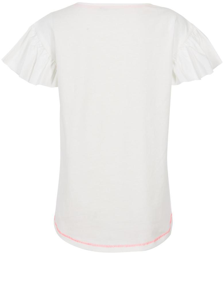 Saf Pamuklu Pırıltılı T-Shirt (3 - 16 Yaş)