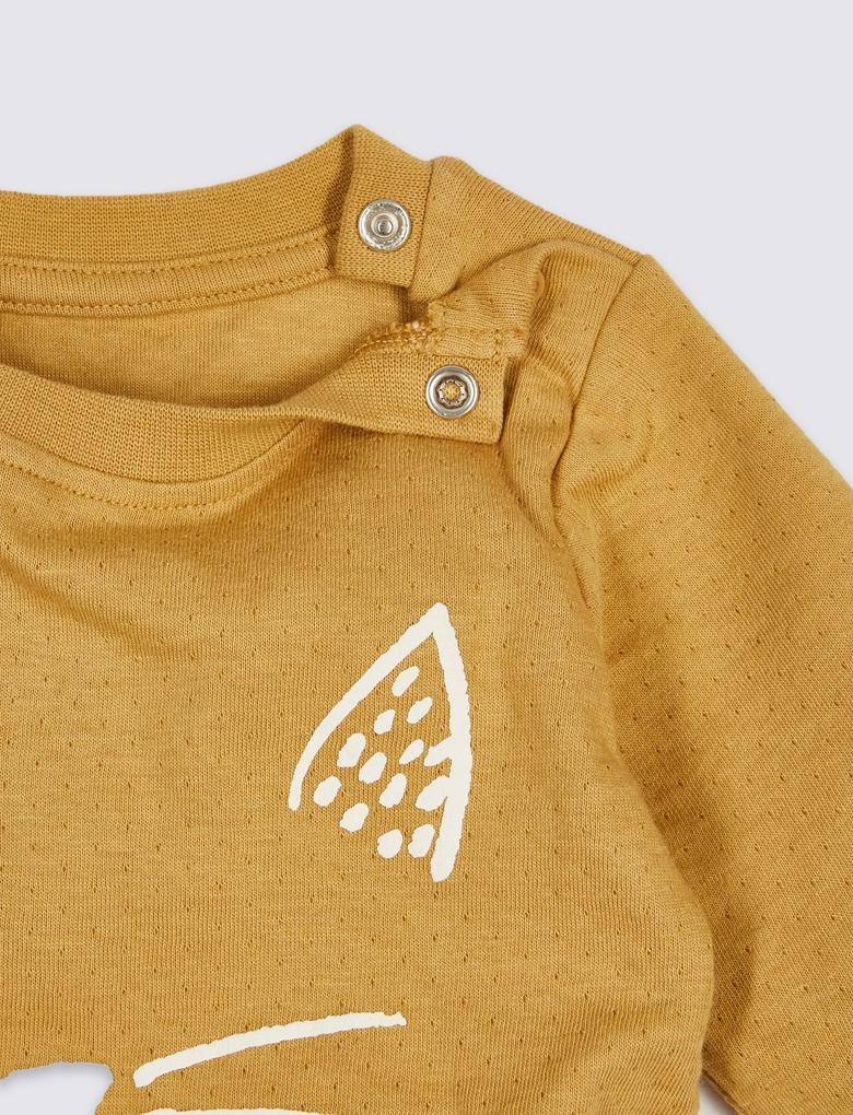 Saf Pamuklu Grafik Desenli Unisex T-Shirt