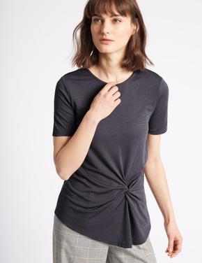 Modal Karışımlı Kısa Kollu T-Shirt