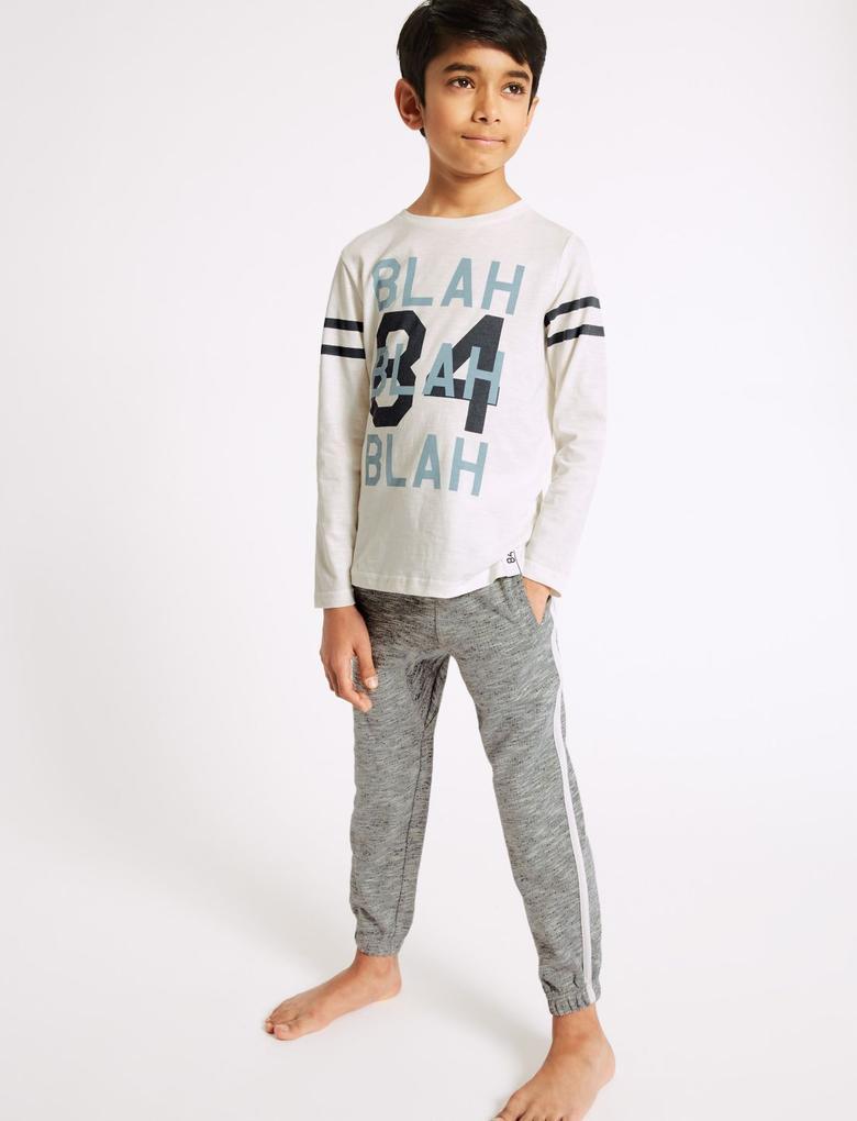 Beyaz Saf Pamuklu Pijama Takımı (3 - 16 Yaş)