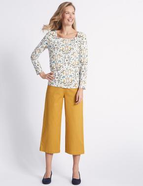 Sarı Kısa Klasik Pantolon