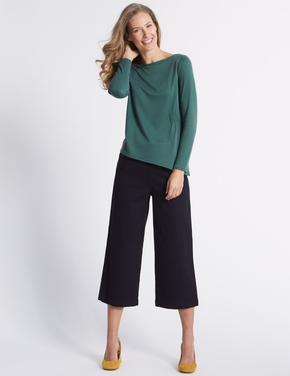 Lacivert Kısa Klasik Pantolon