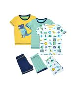 3'lü Desenli Streç Pijama Takımı