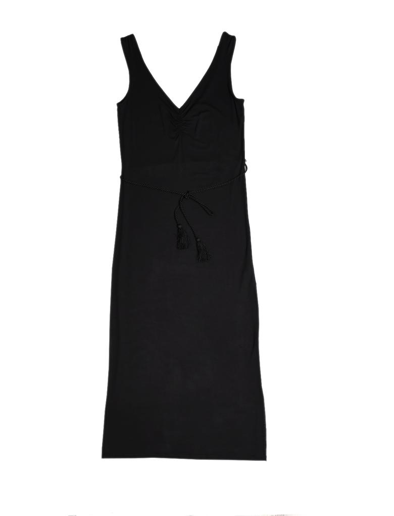 Siyah Maxi Jarse Elbise