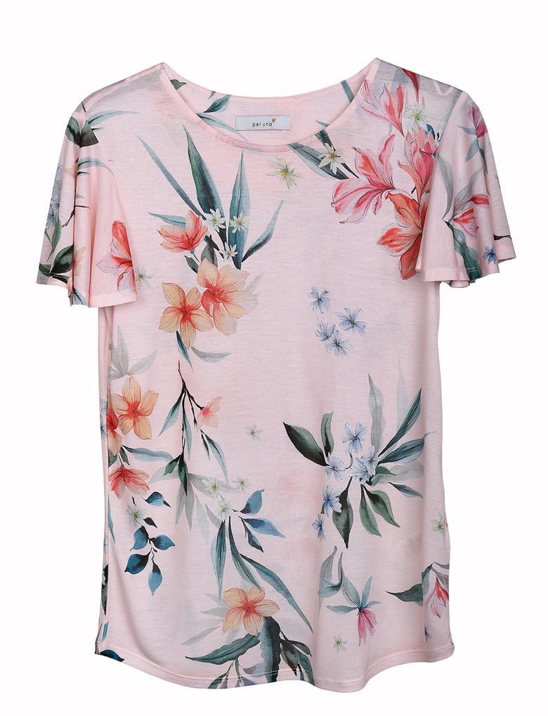 Pembe Kısa Kollu T-Shirt