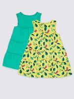 2'li Saf Pamuklu Jarse Elbise (3 Ay - 7 Yaş)