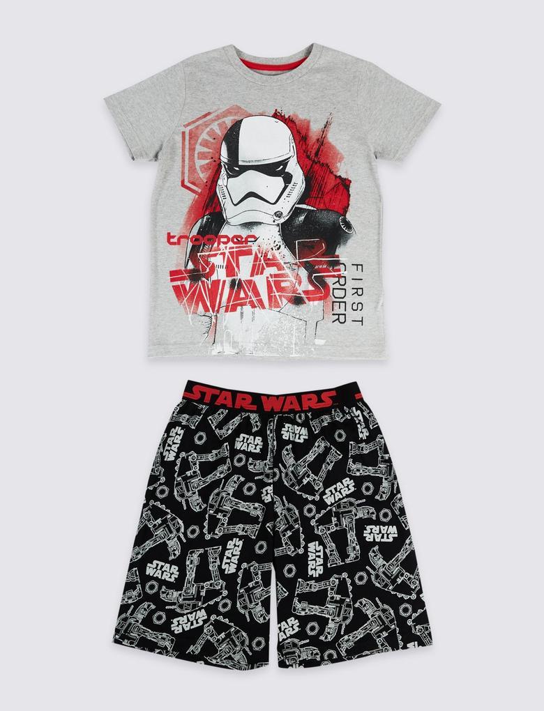Star Wars Saf Pamuklu Pijama Takımı (5 - 14 Yaş)