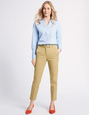 Pamuklu Streç Slim Pantolon