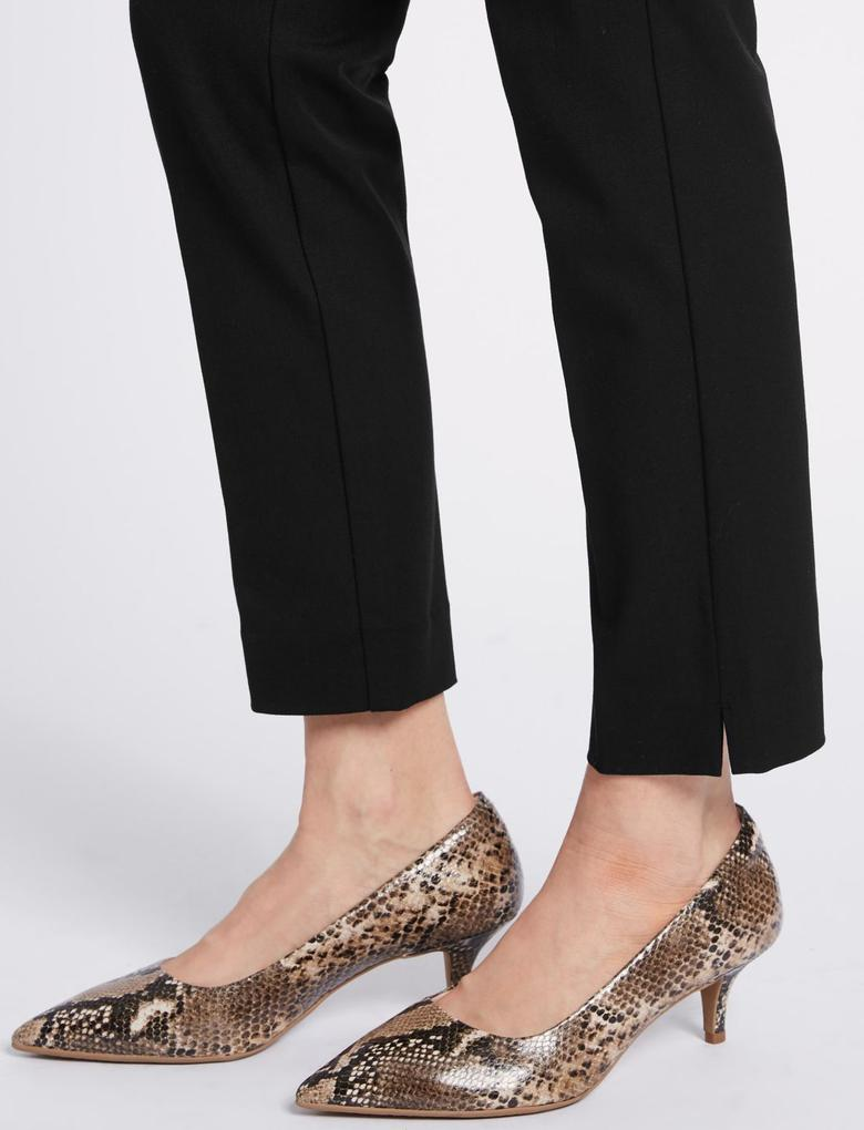 Kadın Siyah Pamuklu Streç Slim Pantolon