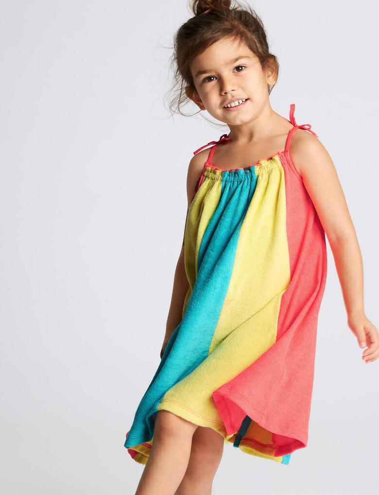 Multi Renk Pamuklu Elbise (3 Ay - 7 Yaş)