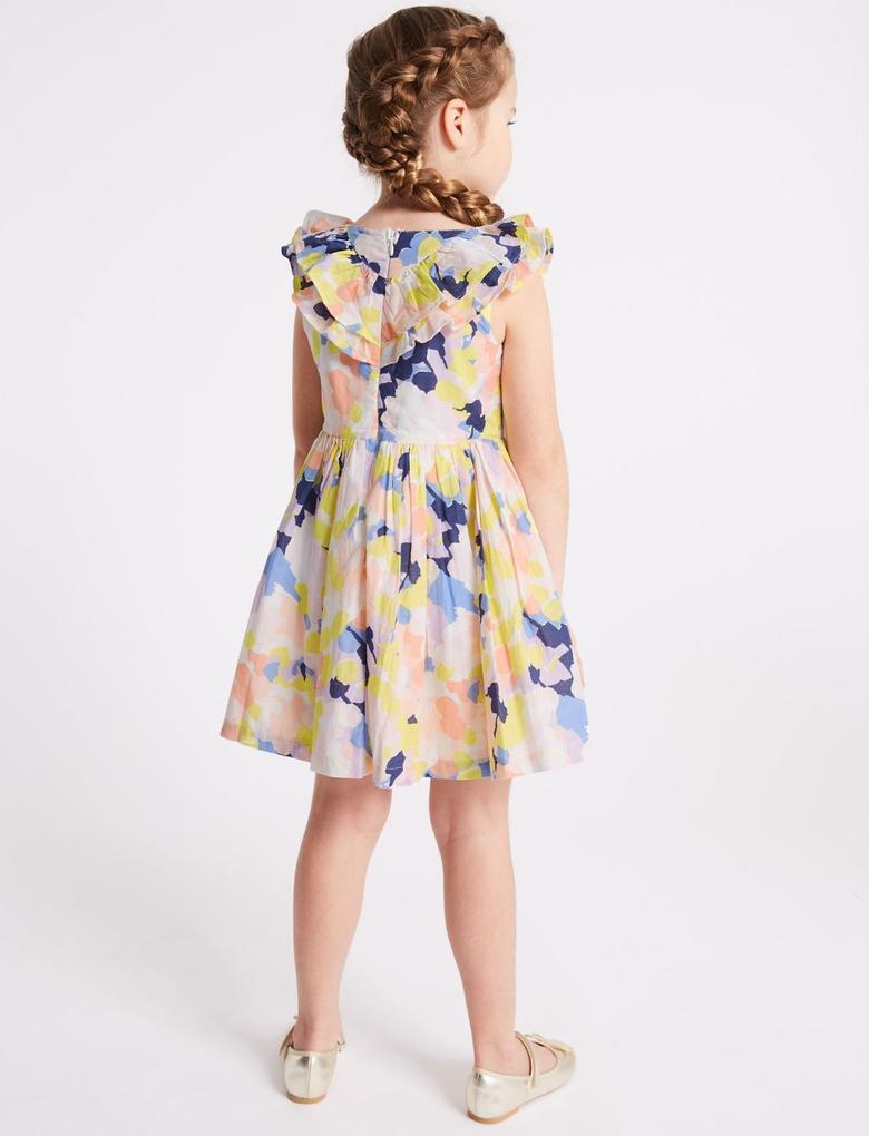 Saf Pamuklu Elbise (3 Ay - 7 Yaş)