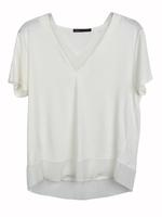Bej Kısa Kollu Jarse T-Shirt