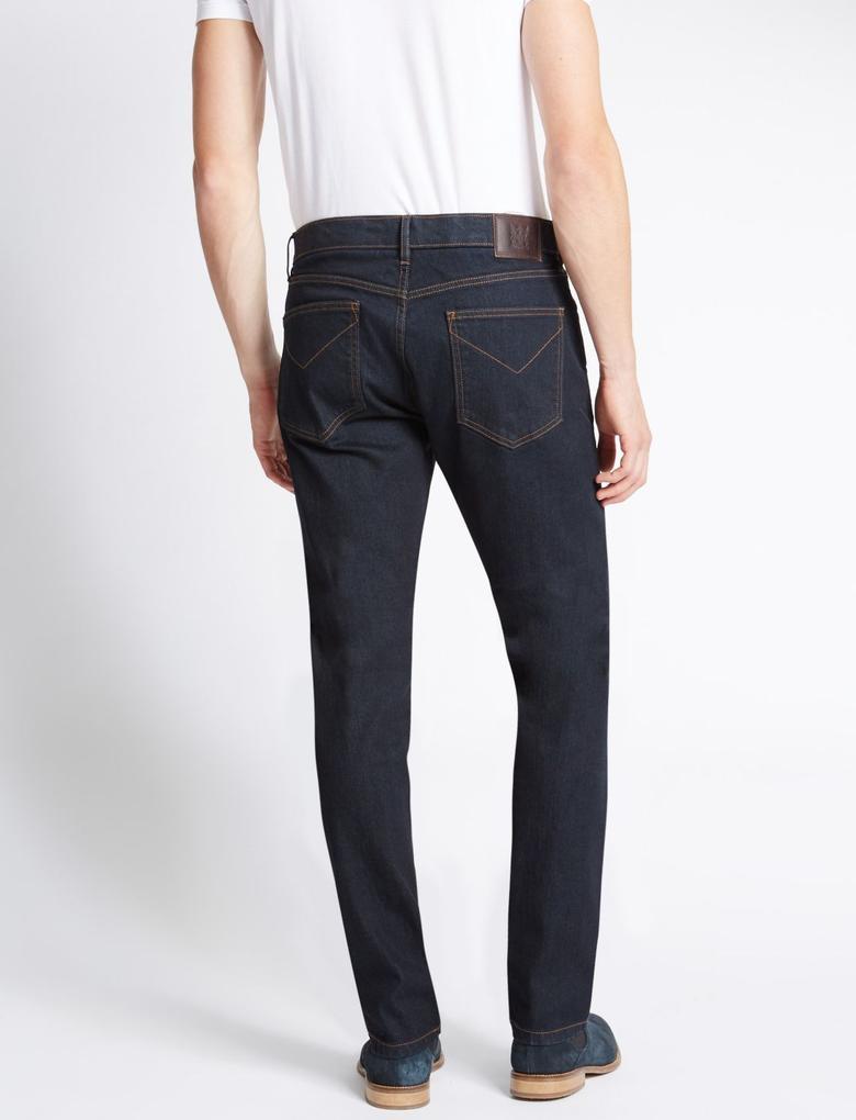 Tapered Fit Streç Jean Pantolon (Stormwear™ Teknolojisi ile)