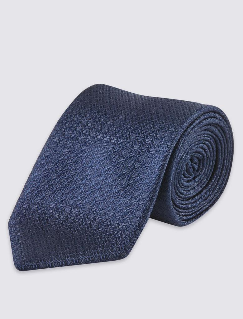 Saf İpek Desenli Kravat