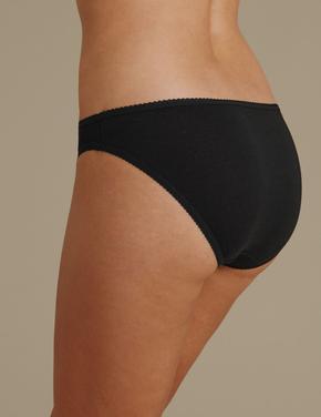 4'lü Saf Pamuklu Bikini Külot