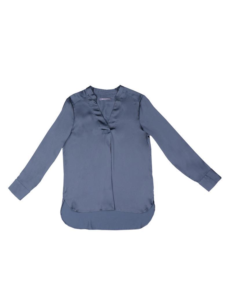 Uzun Kollu Saten Bluz
