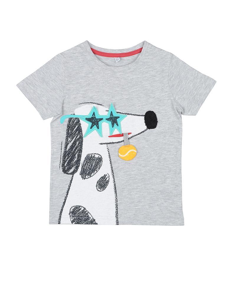 Multi Renk Kısa Kollu Desenli T-Shirt