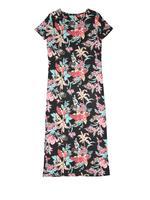 Çiçek Desenli Kısa Kollu Elbise