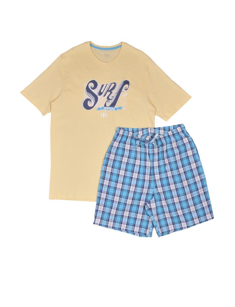 Grafik Desenli Pijama Takımı