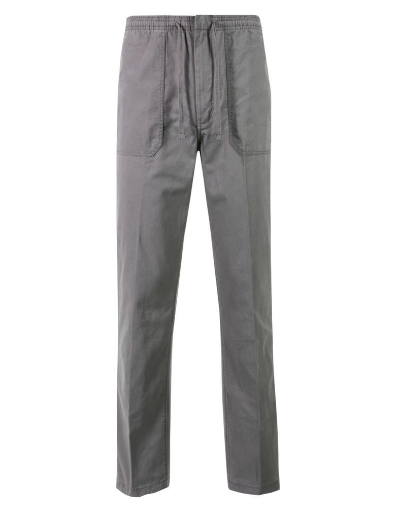 Gri Regular Fit Saf Pamuklu Chino Pantolon