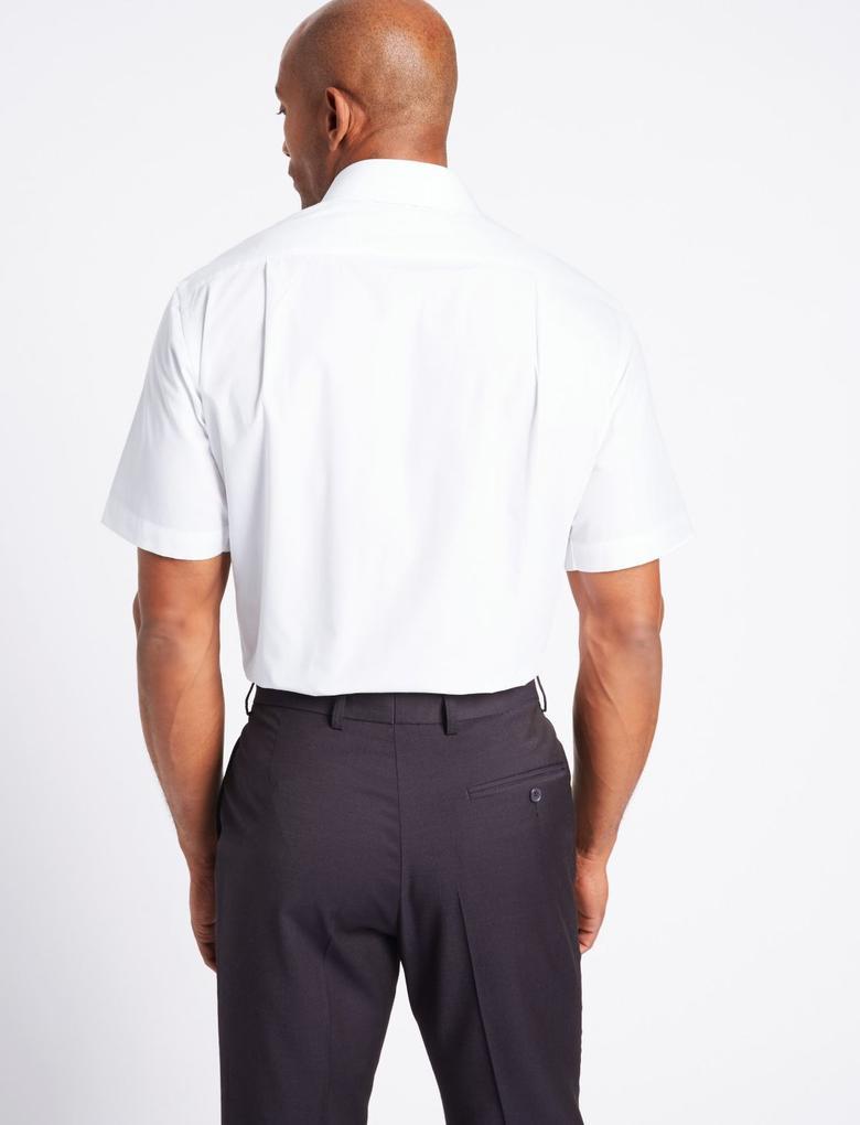 3'lü Kolay Ütülenebilir Kısa Kollu Gömlek